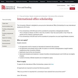 International office scholarship