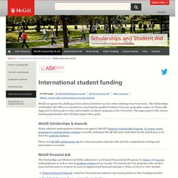 International student funding