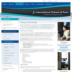 International School of Paris: Theory of Knowledge