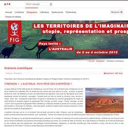 IMAGINER LES ÎLES Fest. Intern. de Géographie - Itinéraires scientifiques