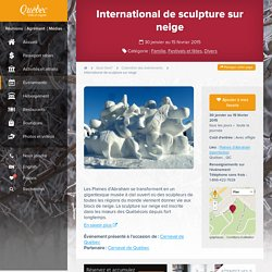 International de sculpture sur neige