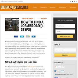 International Job Search: 5 Steps to Finding Work Abroad