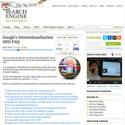 International SEO FAQs By Google