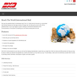 Reach the World International Mail Services - Buffalo NY