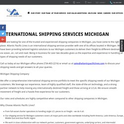 Atlantic Pacific Lines - Shipping Company in Michigan