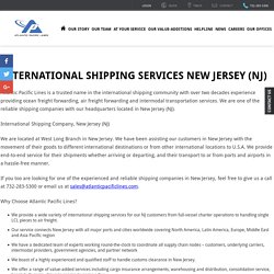 International Shipping Services New Jersey (NJ) - Atlantic Pacific Lines