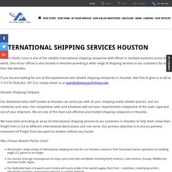 International Shipping Services Houston - Atlantic Pacific Lines