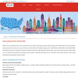 International SIM Card for USA, USA SIM Card in India