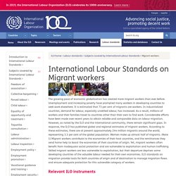 International Labour Standards on Migrant workers