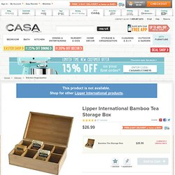 Lipper International Bamboo Tea Storage Box