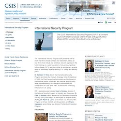 International Security Program