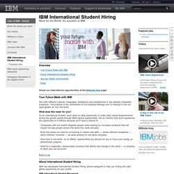 IBM International Student Hiring