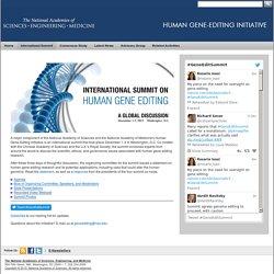 International Summit on Human Gene Editing