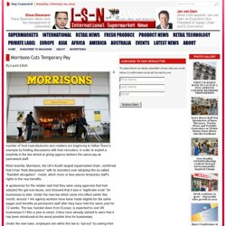 Morrisons Cuts Temporary Pay | International Supermarket News