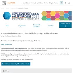 International Conference on Sustainable Technology and Development - Conferences - Elsevier