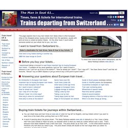 International trains from Switzerland