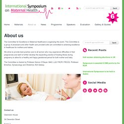International Symposium on Maternal Health » International Symposium on Maternal Health will take place in Dublin in September 2012 » About us