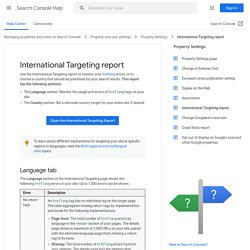 What is international targeting? - Webmaster Tools Help