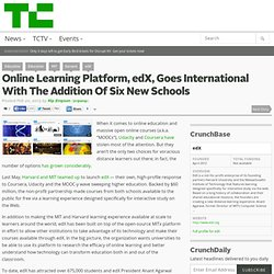 Online Learning Platform, edX, Goes International With The Addition Of Six New Schools