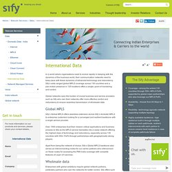 Global & international MPLS Network Services Providers - Sify Technologies
