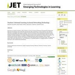 International Journal of Emerging Technologies in Learning (iJET)