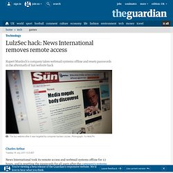 LulzSec hack: News International removes remote access | Technology