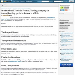Trading goods in France – Wilbiz by Rose Walker