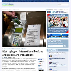 NSA spying on international banking and credit card transactions