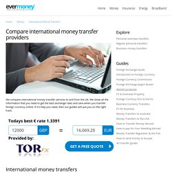 Compare international money transfers with EverMoney