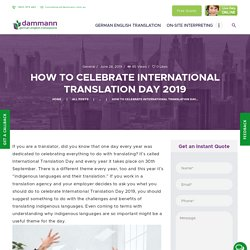 Some Tips To Celebrate Translation Day.