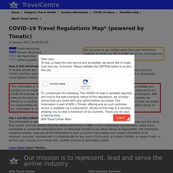 IATA - International Travel Document News