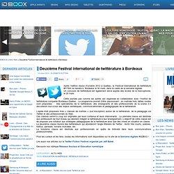 Deuxième Festival international de twittérature à Bordeaux