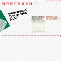 The International Typographic Style Timeline