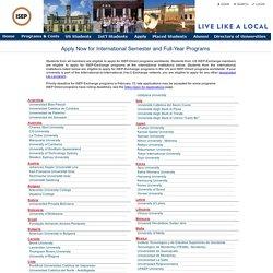 Directory of International Member Universities