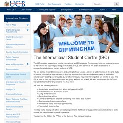 The International Student Centre (ISC) - University College Birmingham