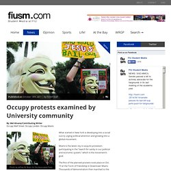 Occupy Movement becomes local | FIUSM