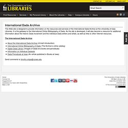 International Dada Archive - The University of Iowa Libraries