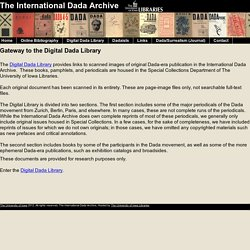 Digital Dada Library - The International Dada Archive - The University of Iowa