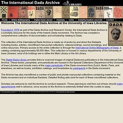 The International Dada Archive - The University of Iowa