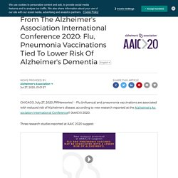 From The Alzheimer's Association International Conference 2020: Flu, Pneumonia Vaccinations Tied To Lower Risk Of Alzheimer's Dementia