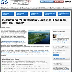 International Voluntourism Guidelines: What Are They and How to Use Them