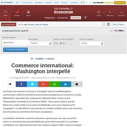 Commerce international: Washington interpellé
