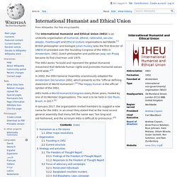 International Humanist and Ethical Union - Wikipedia