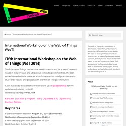 International Workshop on the Web of Things (WoT)