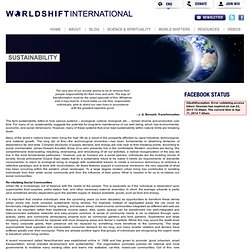 SustainabilityWorldShift International