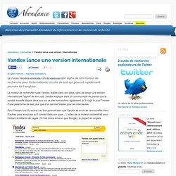 Yandex lance une version internationale