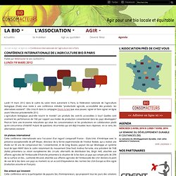 Conférence internationale de l'agriculture bio à Paris