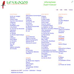 Presse internationale anglaise allemande espagnole italienne... LEXILOGOS