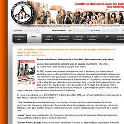 CSIA - 35e édition de la Journée internationale de solidarité avec les peuples amérindiens (le 10 octobre 2015 - Paris 11e) - CSIA-Nitassinan