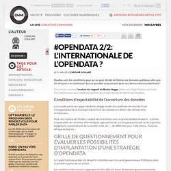 #opendata 2/2: L'internationale de l'opendata ? » Article » owni